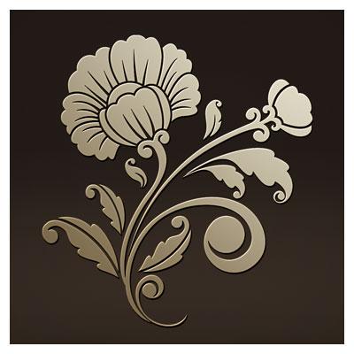 فایل لایه باز لیزر و cnc با طرح گل مناسب برای حکاکی روی درب کمد ، میز و ...