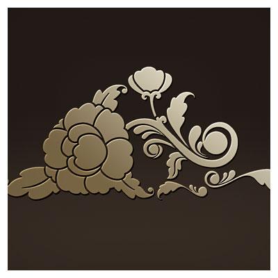 طرح تزئینی گل جهت برش لیزر یا سی ان سی (لایه باز cdr و dxf)