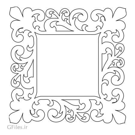 فایل لیزر و سی ان سی قاب و فریم مربعی جهت ساخت آیینه