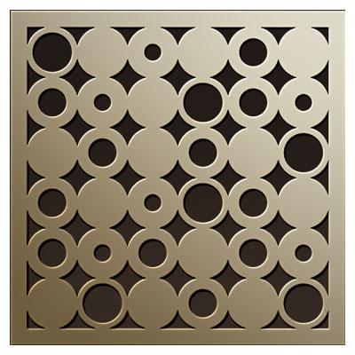 طرح پترن مربعی با دایره های متفاوت مناسب برای حک یا برش لیزری