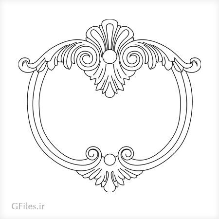 طرح تزئینی فریم و قاب مناسب برای لیزر و cnc و ساخت آیینه