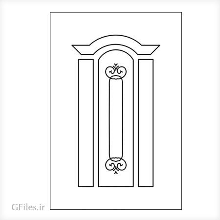 طرح لیزر و سی ان سی جهت تزئین درب چوبی یا فلزی
