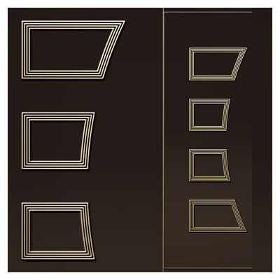 طرح لایه باز تزئینی جهت جک روی درب مناسب برای برش لیزر یا سی ان سی