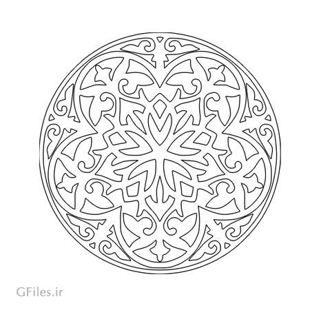 طرح مدور (دایره ای) تزئینی جهت حک یا لیزر کف سالن ، سقف و ...