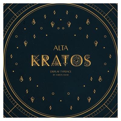 دانلود فونت نجومی و انگلیسی Alta Kratos بصورت رایگان با پسوند OTF