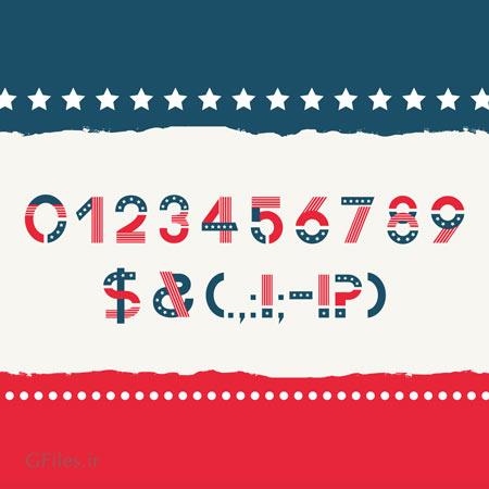 فونت کلاسیک انگلیسی (لایتن) آمریکا (America Font) با پسوند otf