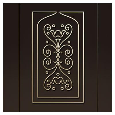 دانلود طرح DXF و CDR نقش و نگار روی درب چوبی یا فلزی مناسب برای برش لیزر یا حک