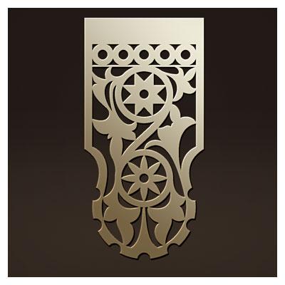 دانلود طرح ستونی مناسب برای برش لیزر ، حک و cnc جهت پایه میز یا ساعت