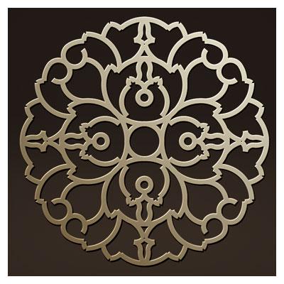 طرح المان تزئینی گل مناسب برای حک ، برش لیزر یا cnc