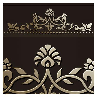 طرح لایه باز وکتور گل و بوته ای مناسب برای لیزر یا حکاکی تاج تخت