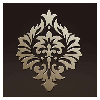 طرح اسلیمی المان تزئینی مناسب برای برش لیزر ، حک یا CNC