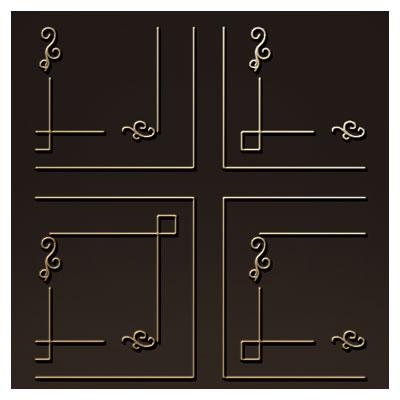 مجموعه 5 طرح تزئینی ساده جهت تزئینات کنج و گوشه ، میز ، کف سالن و ...
