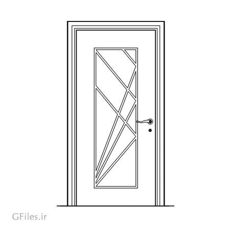 طرح تزئینی درب چوبی یا فلزی مناسب برای برش لیزر یا سی ان سی