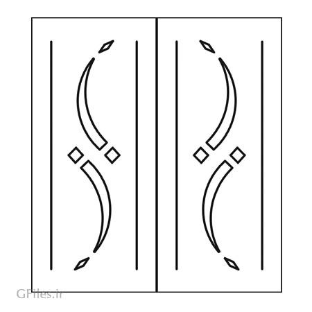 دانلود فایل لایه باز طرح تزئینی درب مناسب برای حک ، برش لیزر یا سی ان سی