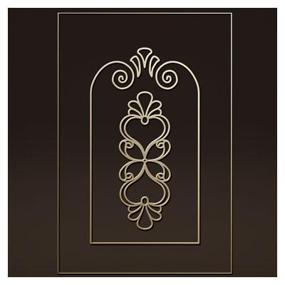 طرح تزئینی گل و بوته ای مناسب برای حک یا برش لیزر روی درب