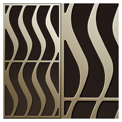 طرح پنل مشبک یا تزئینات درب مناسب برای حک یا برش cnc و لیزر