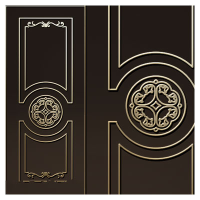 طرح لایه باز المان تزئینی برای درب مناسب جهت حک یا برش لیزر و cnc