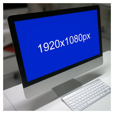 فایل لایه باز پیش نمایش مانیتور رومیزی با فرمت PSD