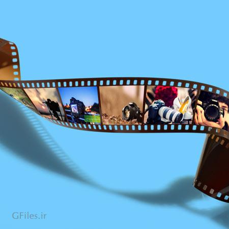 دانلود موکاپ لایه باز رول فیلم با امکان نمایش 6 عکس روی آن