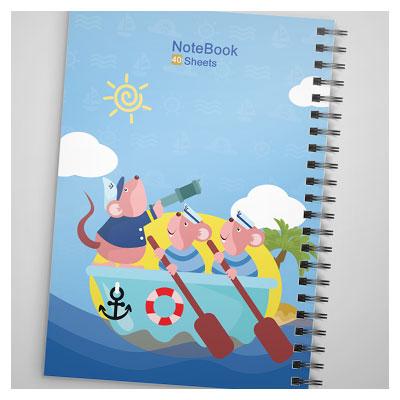 دانلود طرح لایه باز دفترچه مشق کارتونی مناسب برای دفاتر کودکانه و مدرسه