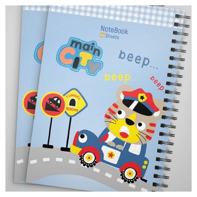 فایل لایه باز کاور و جلد دفترچه مشق یا نقاشی بصورت کارتونی با فرمت PSD