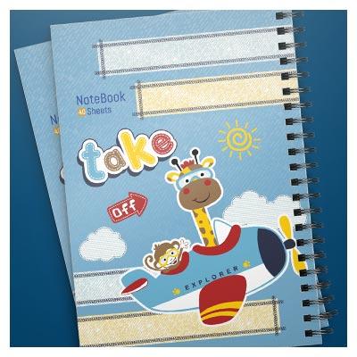 طرح آماده و لایه باز جلد و کاور دفترچه با فرمت PSD