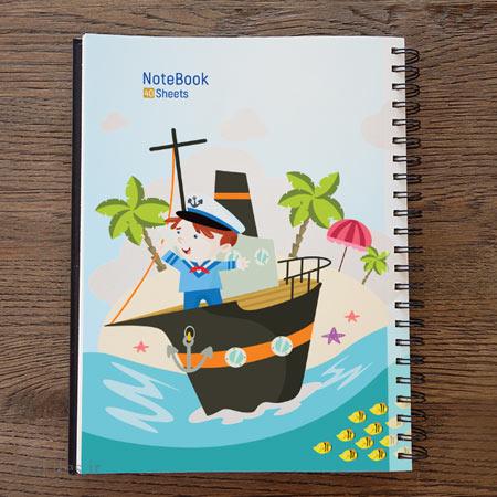 طرح لایه باز کارتونی دفترچه مشق مناسب برای چاپ (PSD لایه باز)