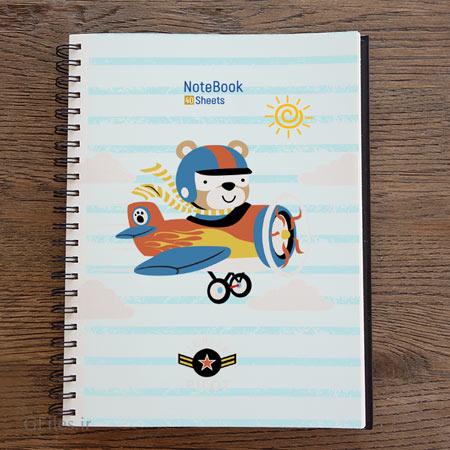 طرح لایه باز دفترچه مشق مدرسه مناسب برای چاپ