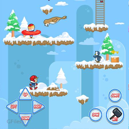 دانلود فایل بکگراند آماده بازی یخی با طرح زمستانی، مناسب برای طراحان بازی تلفن همراه