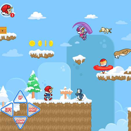 دانلود فایل لایه باز وکتوری پس زمینه آماده بازی برف و یخی، مناسب برای طراحی ui بازی های تلفن همراه