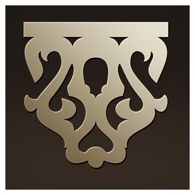 طرح المان تزئینی مناسب برای پایه چوبی یا فلزی جهت برش لیزر یا سی ان سی