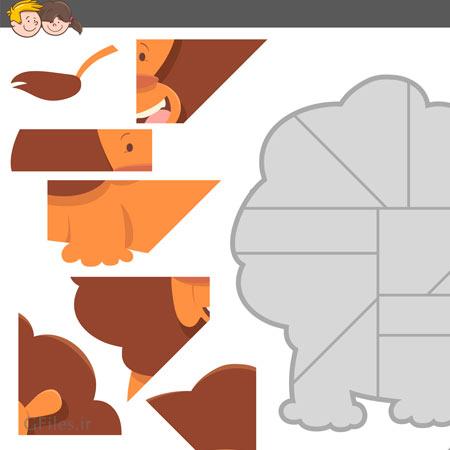دانلود فایل وکتور بکگراند آماده بازی با طراحی فریم شیر جنگل قابل ویرایش در نرم افزار ادوب ایلستریتور