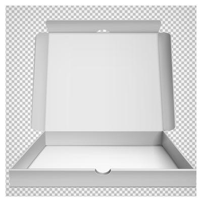 دانلود فایل دوربری شده جعبه پیتزای مقوایی بدون پس زمینه