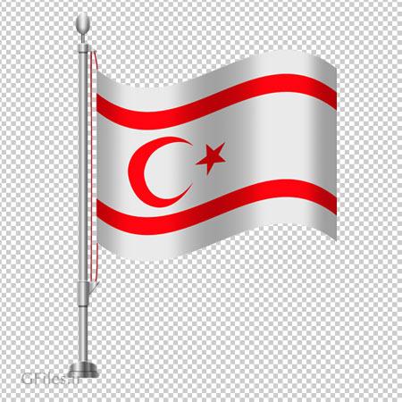 فایل دوربری شده پرچم کشور قبرس شمالی بصورت PNG و بدون زمینه