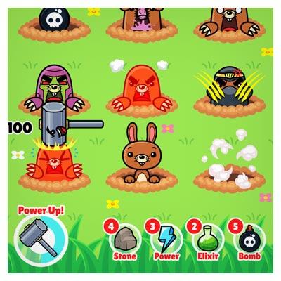 دانلود بازی حمله چکشی به حیوانات، به صورت قالب و بکگراند وکتوری، مناسب برای طراحان بازی های موبایلی