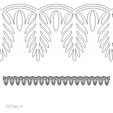 وکتور کنگره ای با طرح برگ مناسب برای برش لیزر یا سی ان سی