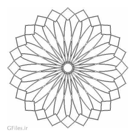 فایل وکتور لایه باز ستاره ای چند ضلعی جهت برش لیزر یا cnc