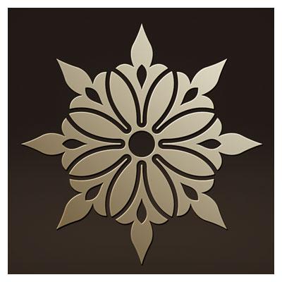 طرح تزئینی زیبا بصورت لایه باز جهت برش لیزر یا سی ان سی