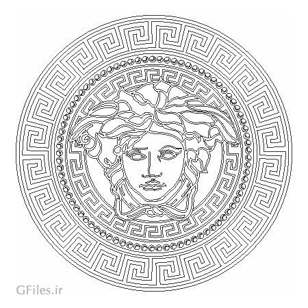 طرح تزئینی ورساچه (Versace) مناسب برای برش لیزر یا حک