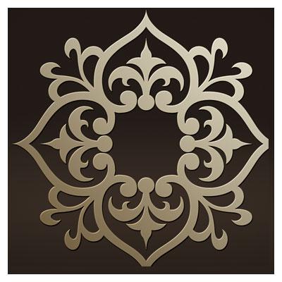 وکتور طرح زیبای المان تزئینی اسلامی تذهیبی