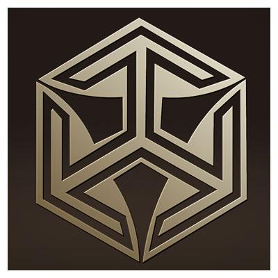 دانلود وکتور المان تزئینی شش ضلعی بصورت لایه باز