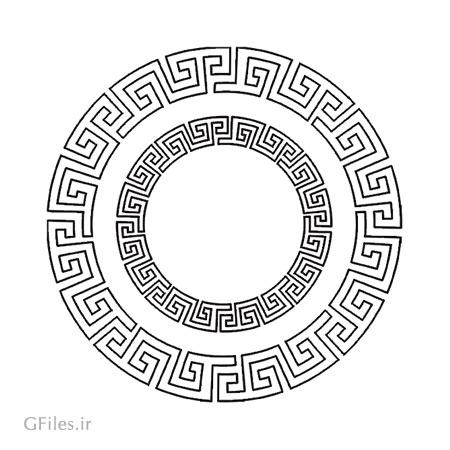 طرح تزئینی دایره ای مناسب برای برش لیزر ، حک یا cnc