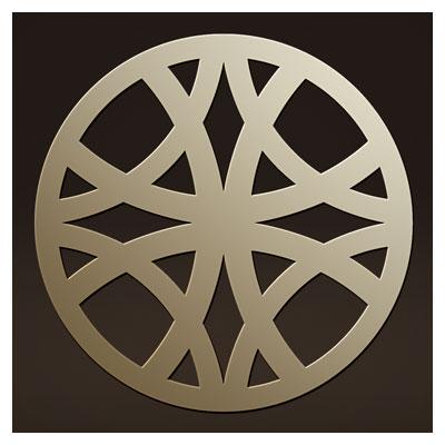 وکتور طرح ساده تزئینی ساده بصورت دایره ای