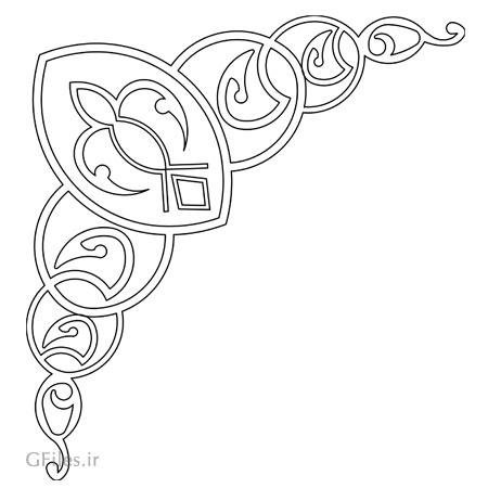 وکتور طرح المان تزئینی مناسب برای کنج یا گوشه