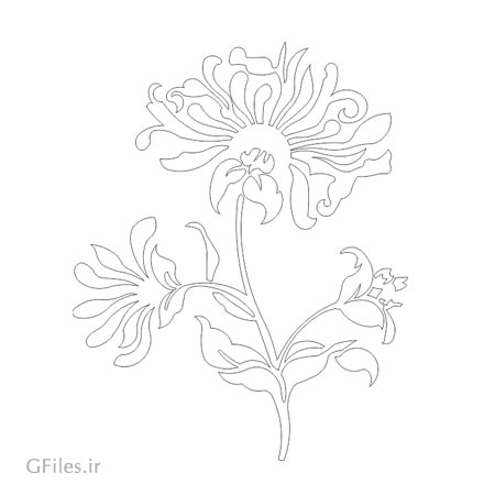 دانلود وکتور لایه باز با طرح گل مناسب برای برش لیزر یا سی ان سی