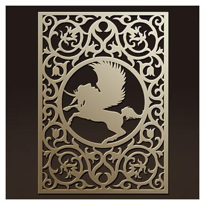 وکتور طرح زیبای تزئینی مناسب برای پنل مشبک با طرح اسب