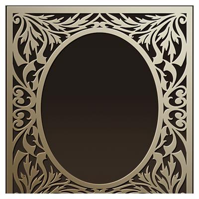 وکتور طرح فریم و قاب آینه بصورت لایه باز با طرح های برگی شکل