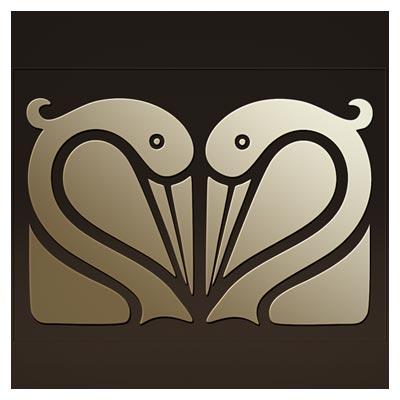 وکتور طرح تزئینی فلامینگو بصورت لایه باز جهت برش لیزر یا سی ان سی