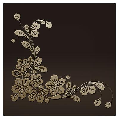 طرح لایه باز لیزر گل و بوته مناسب برای تزئین گوشه