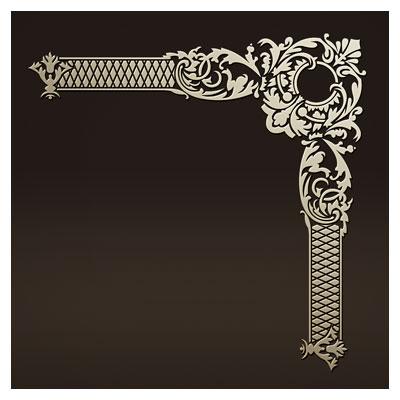 طرح تزئینی لایه باز مناسب برای برش لیزر یا سی ان سی کنج و گوشه